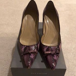 Ann Taylor Carrie Lilac Leather Heels - Size 8.5